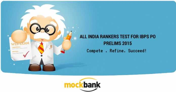 All India Ranker's Test IBPS PO Prelims 2015