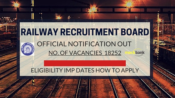 RRB NTPC Official Notification for 18252 Vacancies, Eligibility, Important Dates, Steps to Apply
