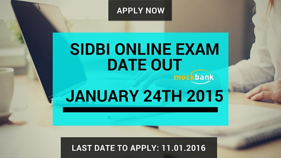 SIDBI Online Exam Date Out