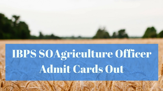 IBPS SOAgriculture Officer Admit Cards Out