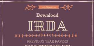 Download IRDA Previous Year Question Papers with Answer Keys