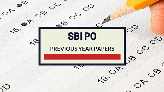 SBI PO Previous papers. SBI PO 2013 Previous Year Question Paper