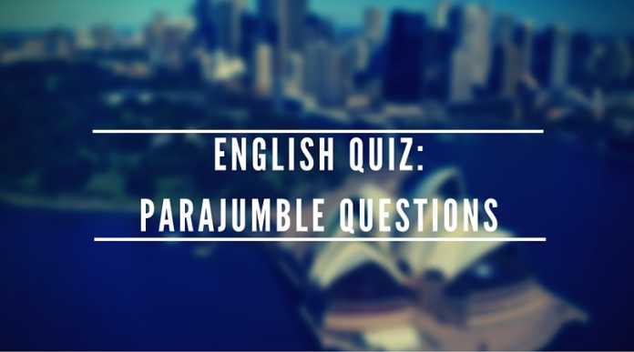 English Quiz Parajumble Questions