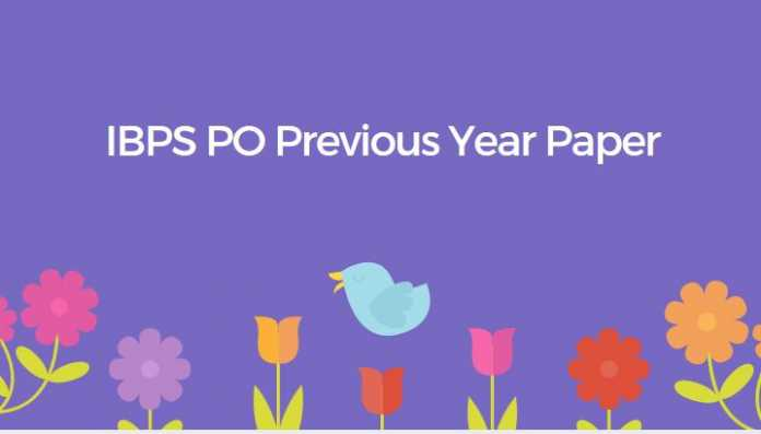 IBPS PO Previous year paper