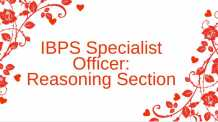 IBPS Specialist Officer CWE previous year paper Reasoning Section
