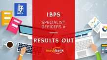 IBPS Specialist Officers V Results Out