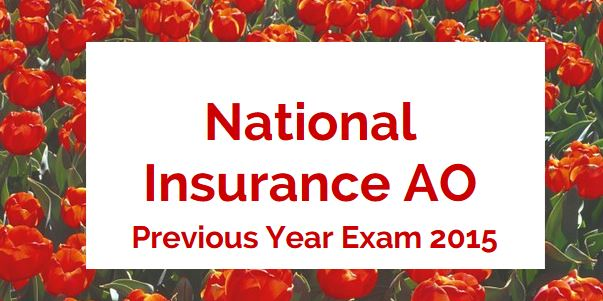 National Insurance AO Previous Year Solved Paper