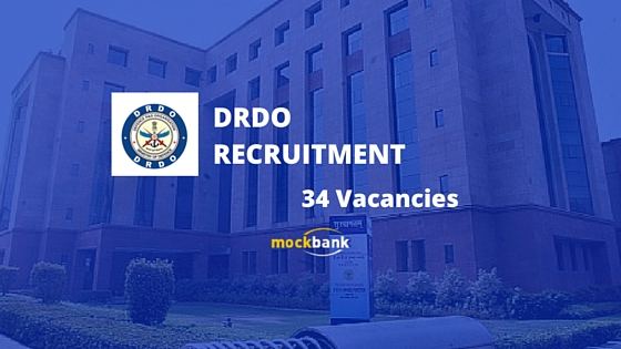 DRDO Recruitment 34 Vacancies - JRF & RA Posts.www.drdo.gov.in