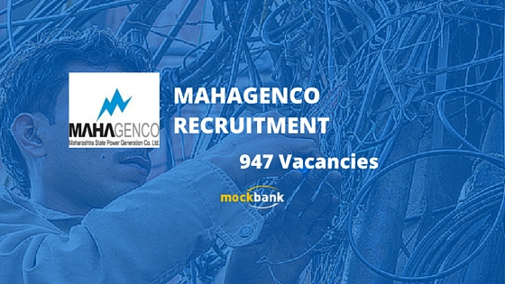 MAHAGENCO Recruitment 947 Vacancies - Technician 3 Posts. www.mahagenco.in