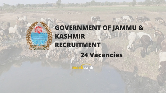 Chief Animal Husbandry Officer 24 Vacancies - Attendant Posts.jkgad.nic.in
