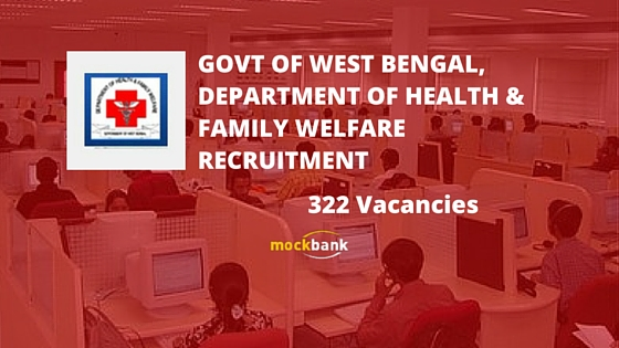 DHFW Bidhannagar 322 vacancies - Data Entry Operator Posts.wbhealth.gov.in