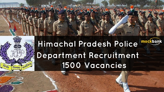 HP Police Recruitment 1500 Vacancies - Constable Posts. hppolice.nic.in