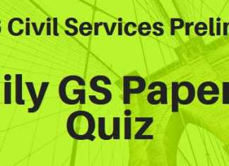 daily civil services gs paper 1 quiz