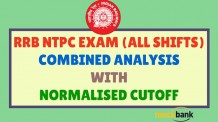 RRB NTPC Exam Final Cut off for All the Exams Combined Along with Final analysis