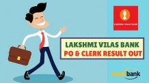 Lakshmi Vilas Bank PO & Clerk Result Out