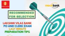 Lakshmi Vilas Bank PO and Clerk Exam Last Minute Preparation Tips