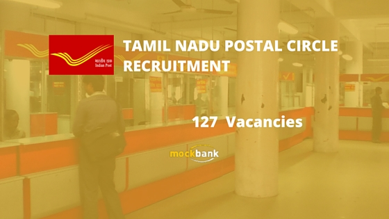 Tamilnadu Postal Circle Recruitment 127 Vacancies -Multi Tasking Staff Posts.dopchennai.in