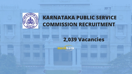 KPSC Recruitment 2039 Vacancies - Group C Vacancies of Non Technical Posts.kpsc.kar.nic.in