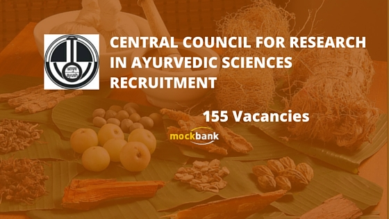 CCRAS Recruitment 155 Vacancies - Research & Statistical Officer Posts.www.ccras.nic.in
