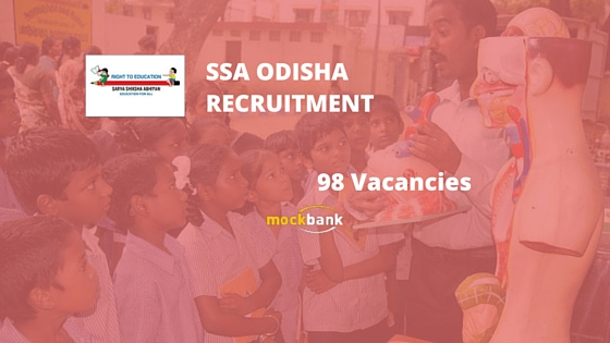 SSA Odisha Recruitment 98 Vacancies - Part Time Instructor Posts.www.ssa.nic.in