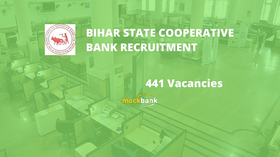 Bihar State Cooperative Bank Recruitment 441 Vacancies - Assistant Posts.biharbank.bih.nic.in