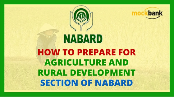 Agriculture and Rural Development Section of NABARD