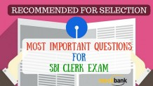 Most Important Questions for SBI Clerk Exam
