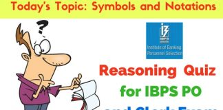 Reasoning Quiz: Symbols and Notations Questions for IBPS PO and Clerk