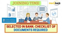 Selected in Bank- Checklist of Documents Required