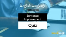 Sentence Improvement Questions English Verbal Ability Quiz