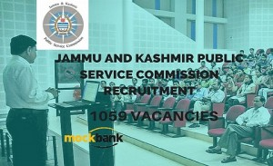 JKPSC Recruitment 1059 Vacancies - Lecturer Posts.jkpsc.nic.in