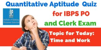 Time and Work Questions for IBPS PO , BOB and RBI Grade B
