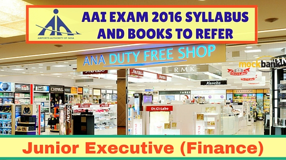 AAI Junior Executive Finance Syllabus and Books to Refer