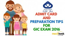 GIC Assistant Manager 2016 Exam Admit Card