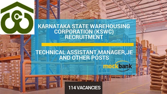 KSWC Recruitment 114 Vacancies-Technical Assistant,Manager,JE and Other Posts.kswc.in