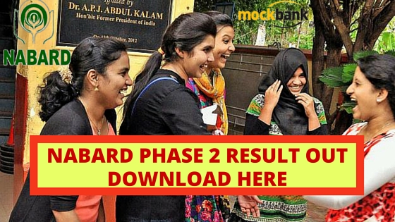 NABARD Result Out for Grade A and Grade B- Download Here