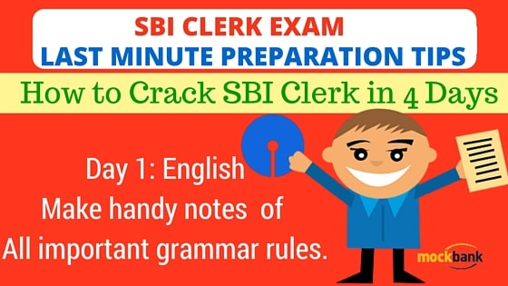 SBI Clerk Exam Last Minute Preparation Tips Day 1