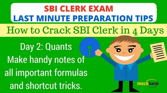 SBI Clerk Exam Last Minute Preparation Tips Day 2