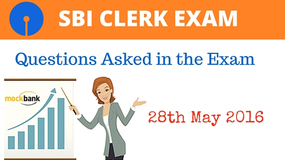 SBI Clerk Exam Questions Asked 28 May