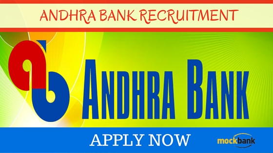Andhra Bank Recruitment 2016 Notification