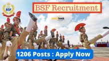BSF Recruitment 2016 for 1206 Posts - Apply Now