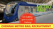 Chennai Metro Rail Recruitment 2016