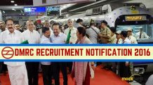 DMRC Recruitment 2016 Notification 2016