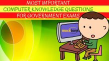 Most Important Computer Knowledge Questions for Government Exams
