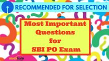 Most Important Questions for SBI PO Exam