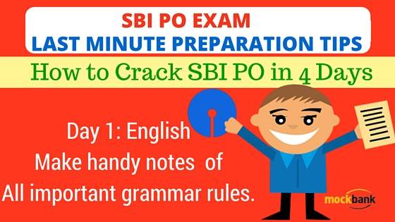 SBI PO Last Minute Preparation Tips
