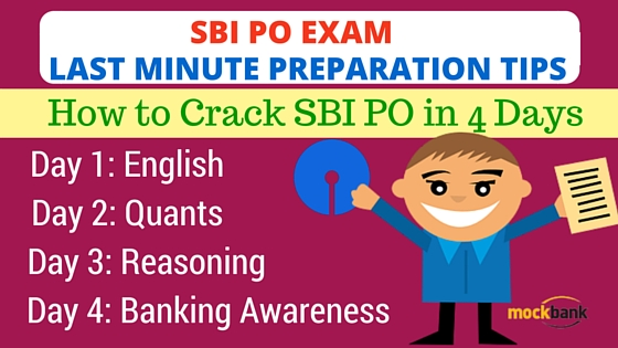 SBI PO Last Minute Preparation