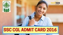 SSC CGL Admit Card 2016
