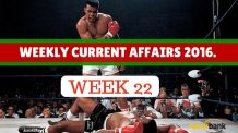 Weekly Current Affairs 2016 (30 May - 5 June)