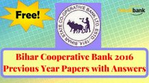 Bihar Cooperative Bank 2016 Previous Year Papers